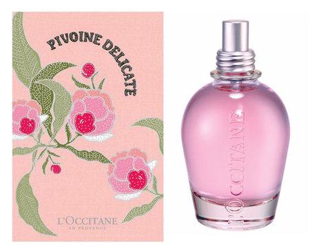 Pivoine Délicate, gama perfumada de L'Occitane para primavera-verano, con labiales