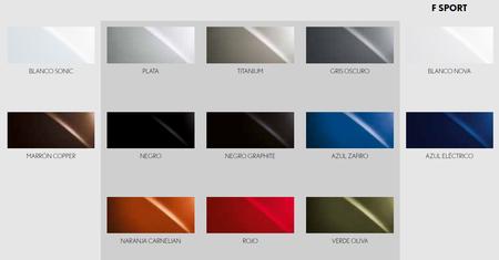 Colores Lexus Ux 250h 2019