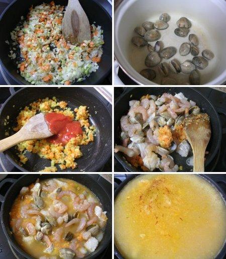 Elaboración de una sopa de pescado