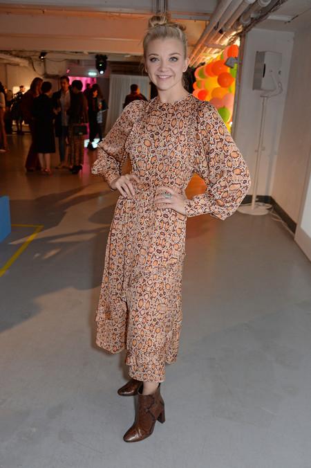 Natalie Dormer Wears Mango Dress Boots In London
