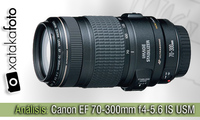 Canon EF 70-300mm f4-5.6 IS USM, análisis