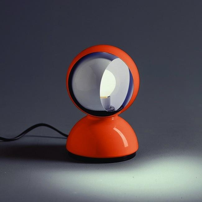 Artemide Eclisse Table Lamp 12 H 16 Cm Orange Arte 0028050a