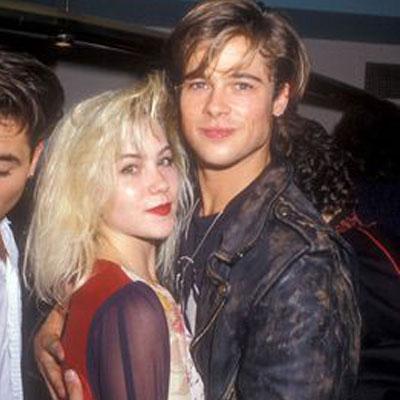 Christina Applegate and Brad Pitt