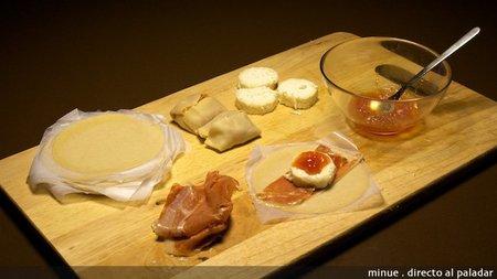 Mini hojaldre de queso de cabra y jamón - ingredientes