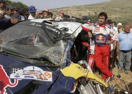 El accidente de Sébastien Loeb en imágenes