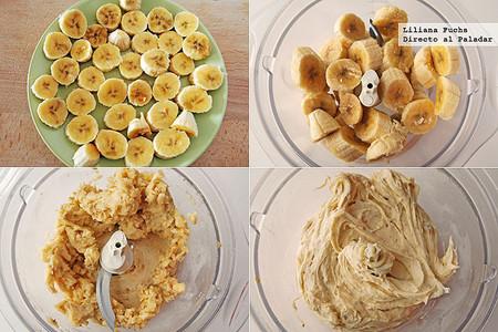 Receta de helado de plátano fácil. Pasos