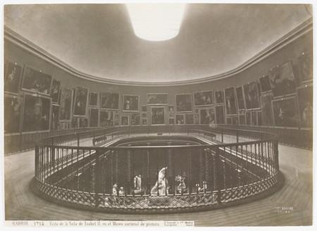 Museo del Prado, vista de la Sala de la Reina Isabel II Juan Laurent y Minier Positivo fotográfico | gelatina, colodión, 244 x 337 mm h. 1879 Madrid, Museo Nacional del Prado