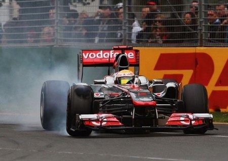 GP Australia F1 2011: Lewis Hamilton y los bloqueos de rueda en las frenadas