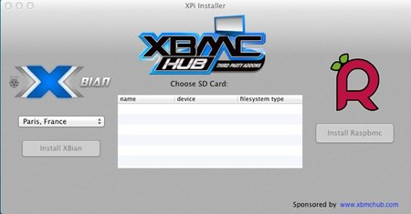 XPi installer, puede installar tanto XBian como Raspbmc en tu SD desde Mac OS X