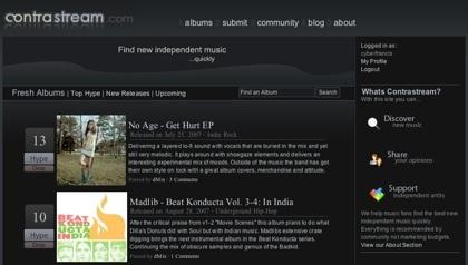 Contrastream, comunidad para el descubrimiento de música independiente, lanzado hoy