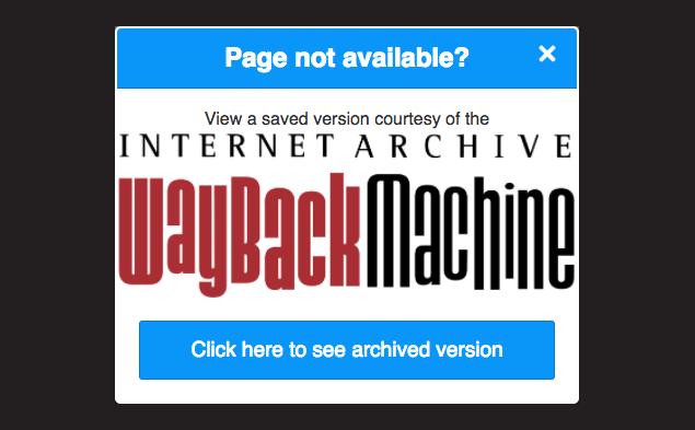 Wayback Machine Chrome Web Store
