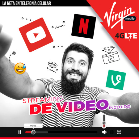 Virgin Mobile dice ofrecer datos para Netflix y YouTube, pero no es lo que esperábamos