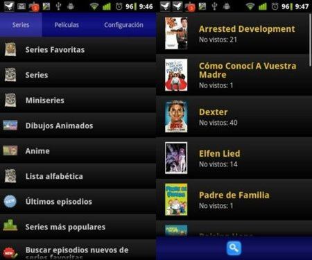 Series para Android (Seriesyonkis en Android)