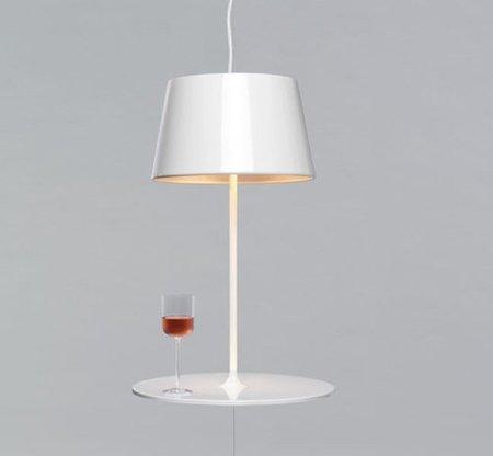 Ilusión óptica en una lámpara