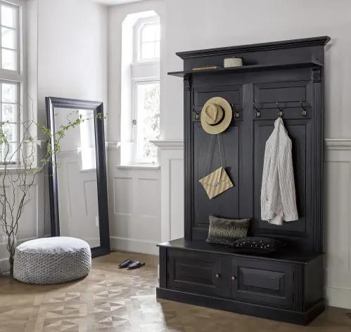 Mueble de entrada con banco y perchas