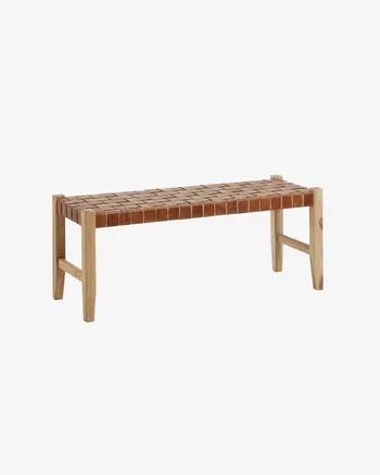 Banco Calixta de madera maciza de teca 120 cm