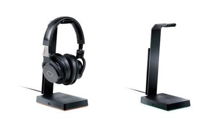 ¿No sabes donde dejar tus auriculares? El nuevo soporte de Cooler Master te permite además tener un hub USB, luz LED y sonido 7.1