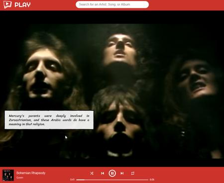 Con esta app puedes navegar los vídeos musicales de YouTube y aprender cosas interesantes sobre los artistas