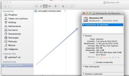 Recovery HD OS X