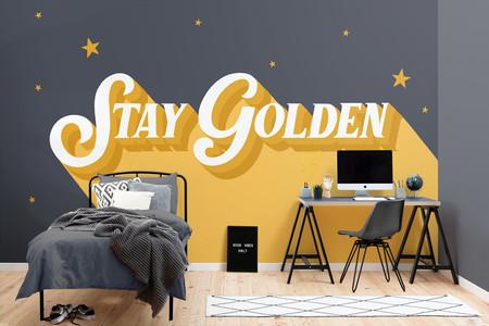 Papel Pintado Amarillo Y Gris Con Frase Motivacional Lifestyle Web