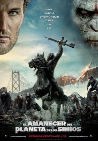 El cartel español de El Amanecer del Planeta de los Simios