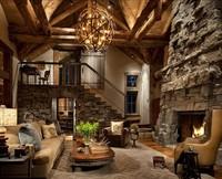 Una cabaña llena de chimeneas en Montana