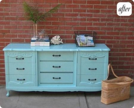 Antes y despu s muebles de madera lacados - Modernizar muebles antiguos ...