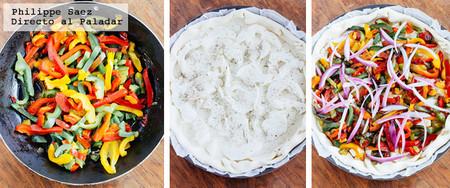 Tarta Pimiento Mozzarella Receta