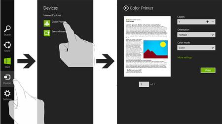 Así se imprime desde una aplicación de la Modern UI
