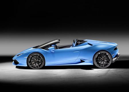 Lamborghini Huracain Spyder Lp 610 4 Side View Open