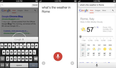 Chrome 27 llega a Android, pronto también en iOS con búsqueda por voz