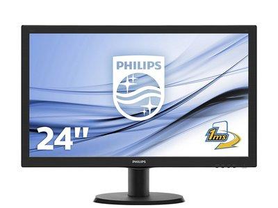 Monitor Philips de 23,6 pulgadas, con resolución FullHD y altavoces incorporados, por 119 euros