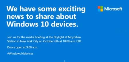 Microsoft confirma su evento de presentación para el 6 de octubre