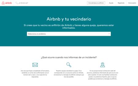 Airbnb ya permite a tus vecinos quejarse de tus inquilinos