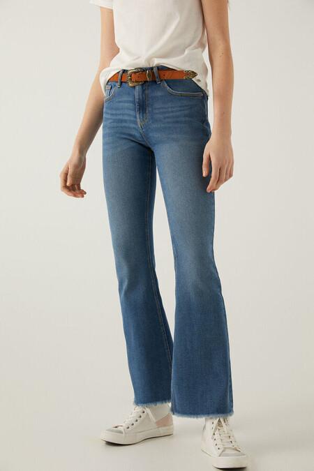 Jeans Boot Cut Deshilachado