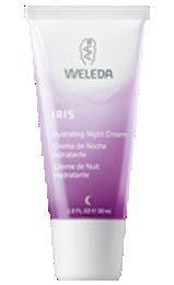 crema hidratante de noche de iris de weleda