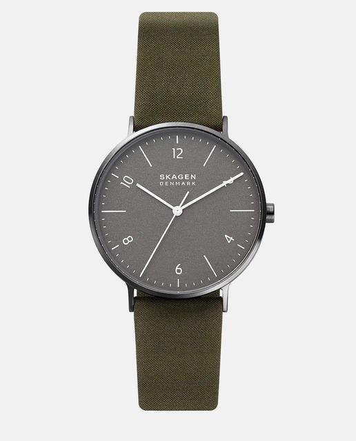 Reloj de hombre Skaegen Aaren Naturals SKW6730 de piel vegetal gris
