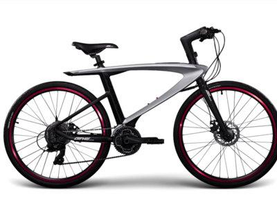 Esta bicicleta tiene un par de punteros láser y un teléfono integrados