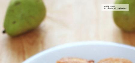 Buñuelos de pera. Receta