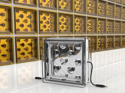 Estos bloques de cristal  con paneles solares integrados pueden captar energía en las viviendas