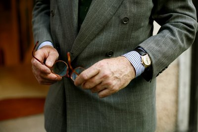 Gianni Agnelli y su curiosa forma de llevar el reloj