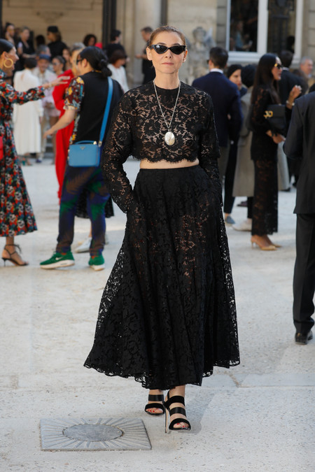 Clotilde Courau front row valentino