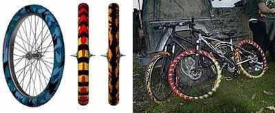 Ruedas de bici para ser visto