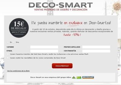 Deco-Smart, plataforma de ventas privadas de decoración, se lanza mañana en España