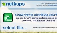 Netkups, otro servicio para compartir archivos vía BitTorrent de forma sencilla