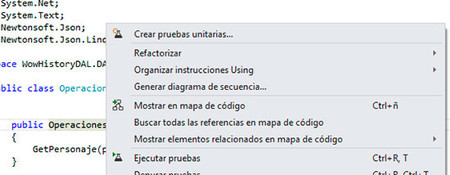 Visual Studio 2012, crear pruebas unitarias
