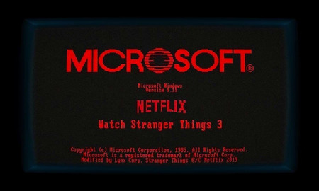 Microsoft lanza una versión de Windows 1.0 inspirada en 'Stranger Things', con varios minijuegos y easter eggs