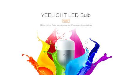 Bombilla LED Xiaomi Yeelight RGBW, con conectividad WiFi, por sólo 12,49 euros con este cupón
