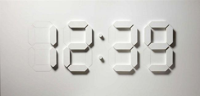 Reloj digital en tres dimensiones controlado por Arduino