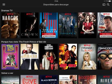 Captura app de Netflix